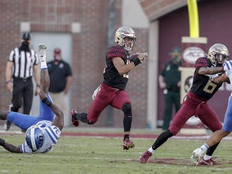 Quarterback Jordan Travis and the Seminole offense ran all over the Blue Devils Saturday afternoon.