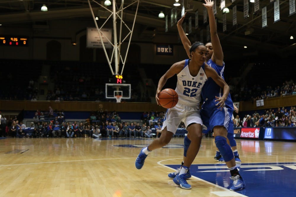 <p>Chidom ranks sixth on Duke's all-time charts in both field goal percentage and blocks.</p>