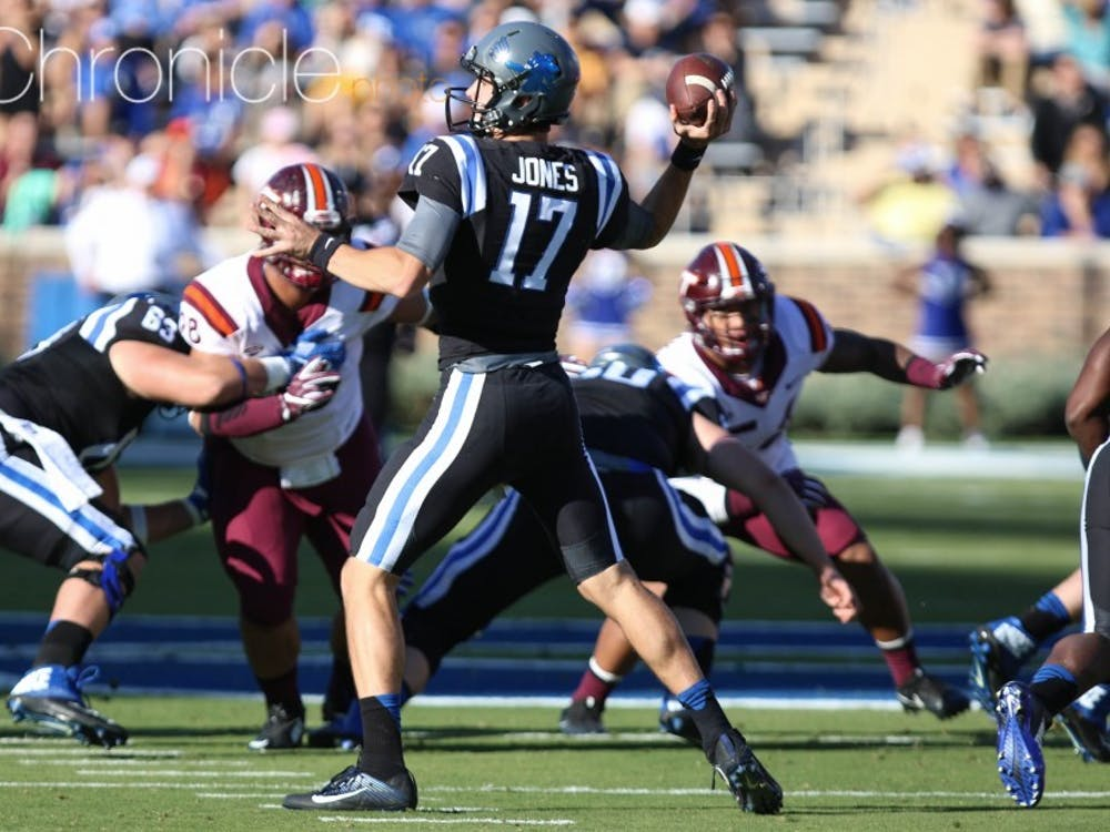 Daniel Jones will need to be accurate to break Duke's slump against Virginia.