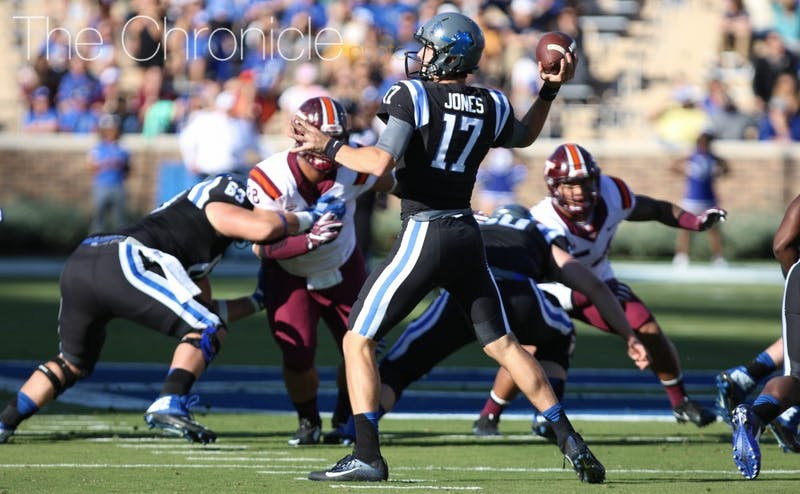Daniel Jones will need to be accurate to break Duke's slump against Virginia.