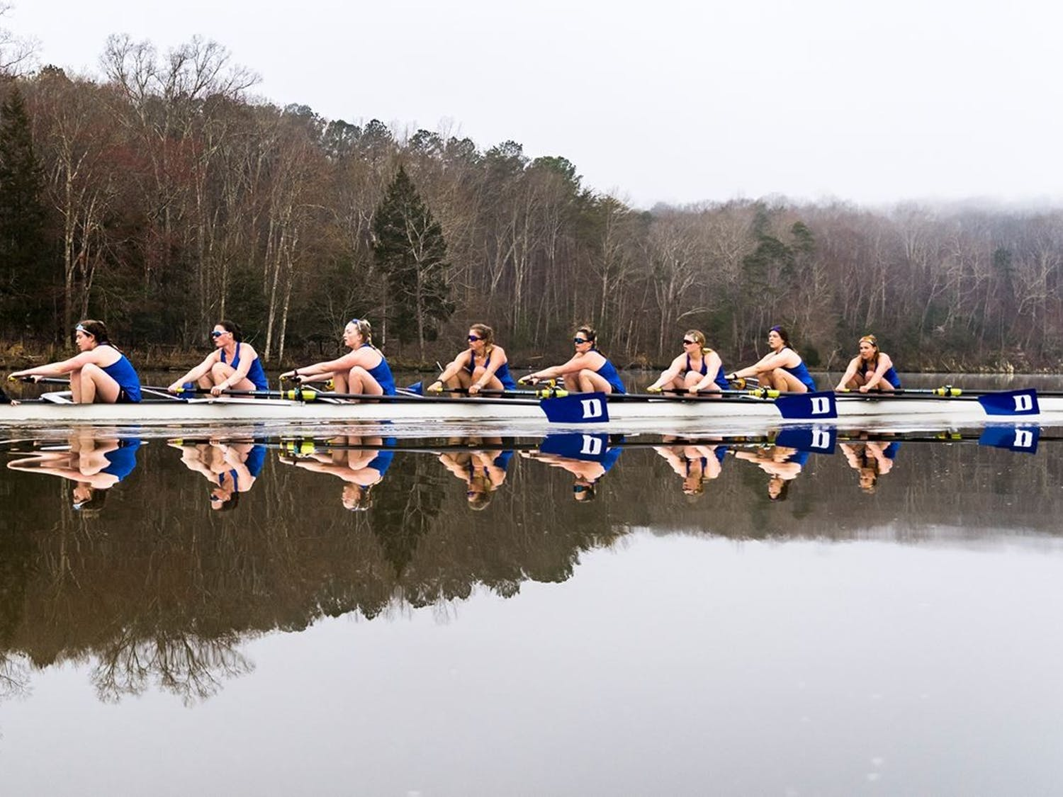 The Varsity Eight rowed its way past No. 7 Michigan for a tournament-best time of 6:48.60.