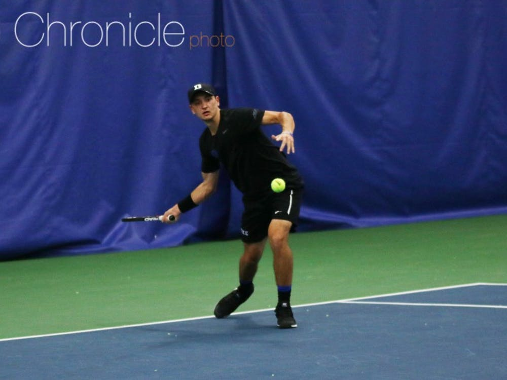 Four Blue Devils won both of their singles matches Friday and Saturday as the team rolled to a pair of 6-1 victories.