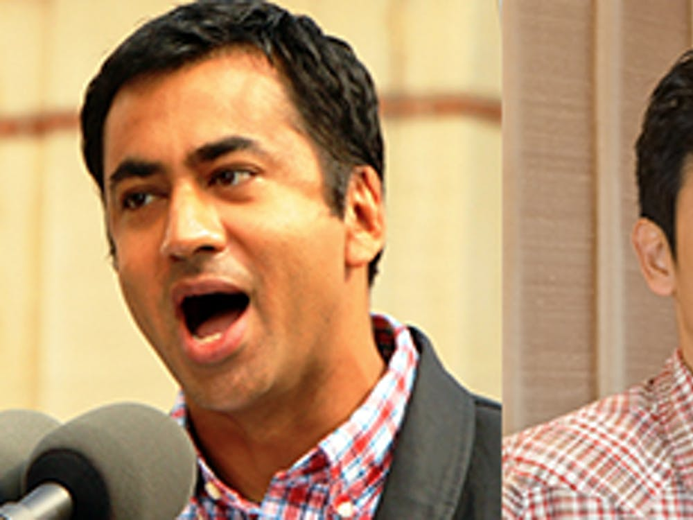 """Kal Penn and John Cho, the stars of """"Harold and Kumar go to White Castle,"""" visited North Carolina to campaign for Hillary Clinton."""