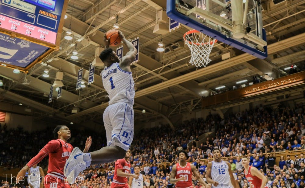 <p>Zion Williamson took advantage of Stetson's lack of an interior presence in the first half.</p>