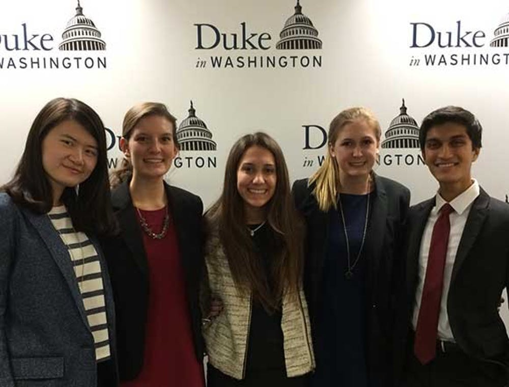 <p>Undergraduate students in the Innovation and Technology Policy Lab&nbsp;hosted a conference Nov. 18 at the Duke in Washington Office.</p>