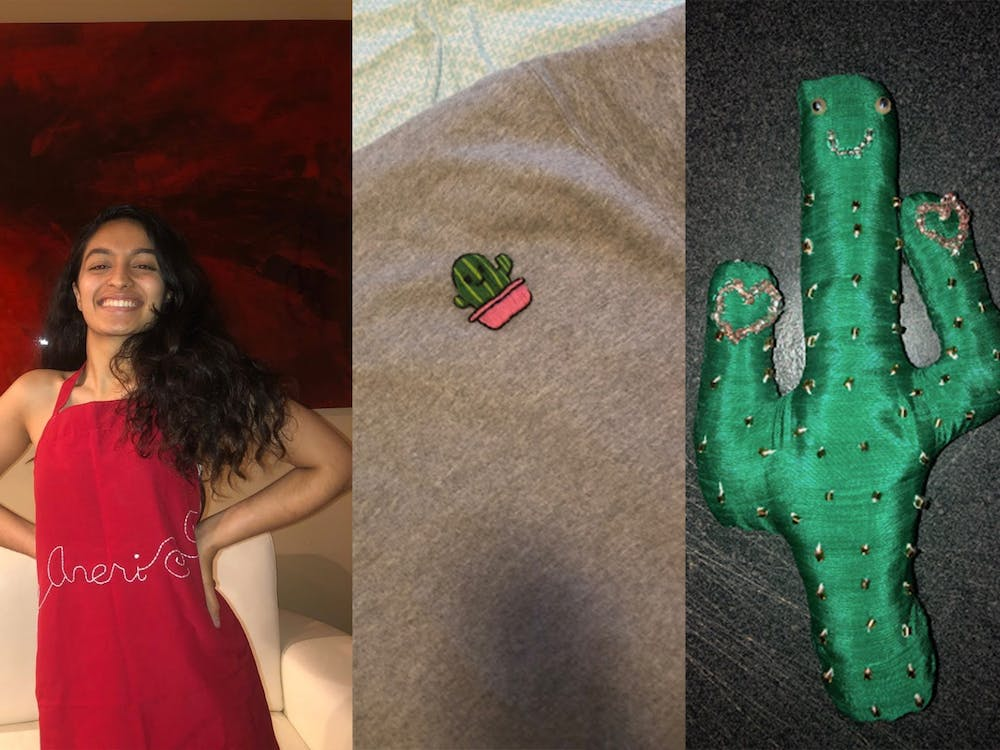 Juniors Aneri Tanna and Ashwin Kulshrestha, who started dating March 6, sent each other an apron and cactus-themed gifts—the latter inspired by Tanna's Arizona roots—while separated during the pandemic.