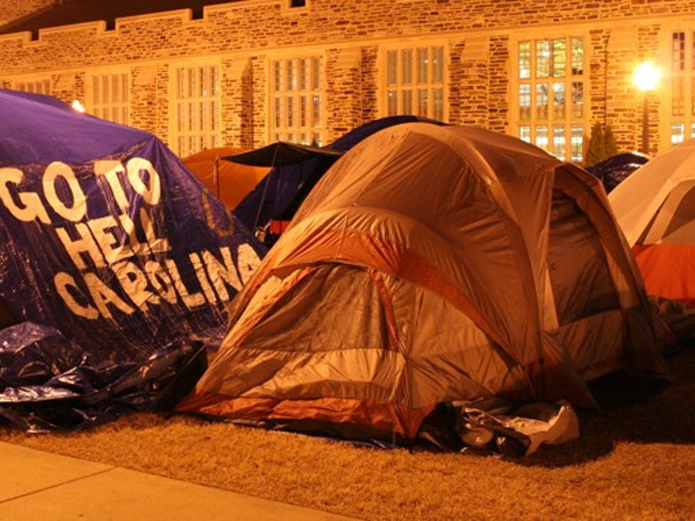 Krzyzewskiville may see lessened requirements this tenting season. Head Line Monitor Zach White,  a senior, will propose to reduce the number of students required to sleep in a tent at night from eight to six.