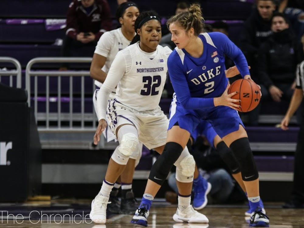 Haley Gorecki led the Blue Devils with 19 points Saturday.