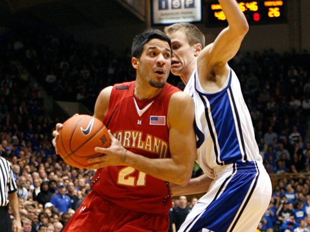"""The Cameron Crazies hate him, but Terrapin guard Greivis Vasquez is good for the Duke-Maryland """"rivalry""""."""