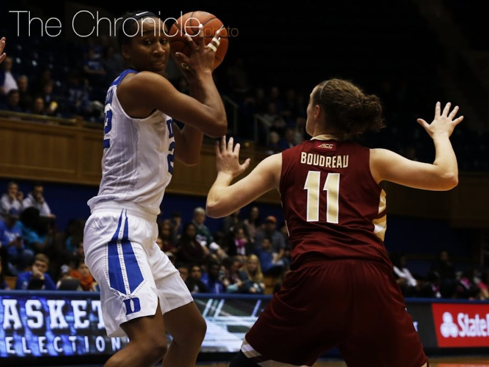 After a 1-3 start to ACC play cost Duke its spot in the AP top 25, junior Oderah Chidom and the Blue Devils can get back to .500 in conference action with a road win Thursday at Clemson.