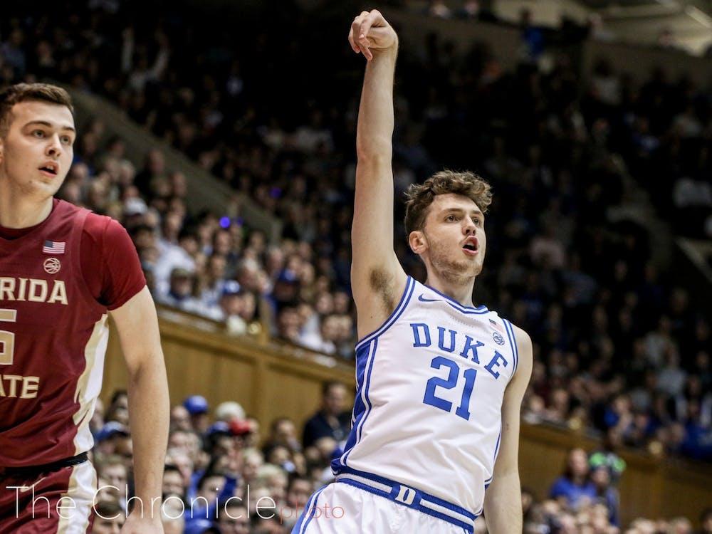 Hurt was Duke's ace from long range last year.