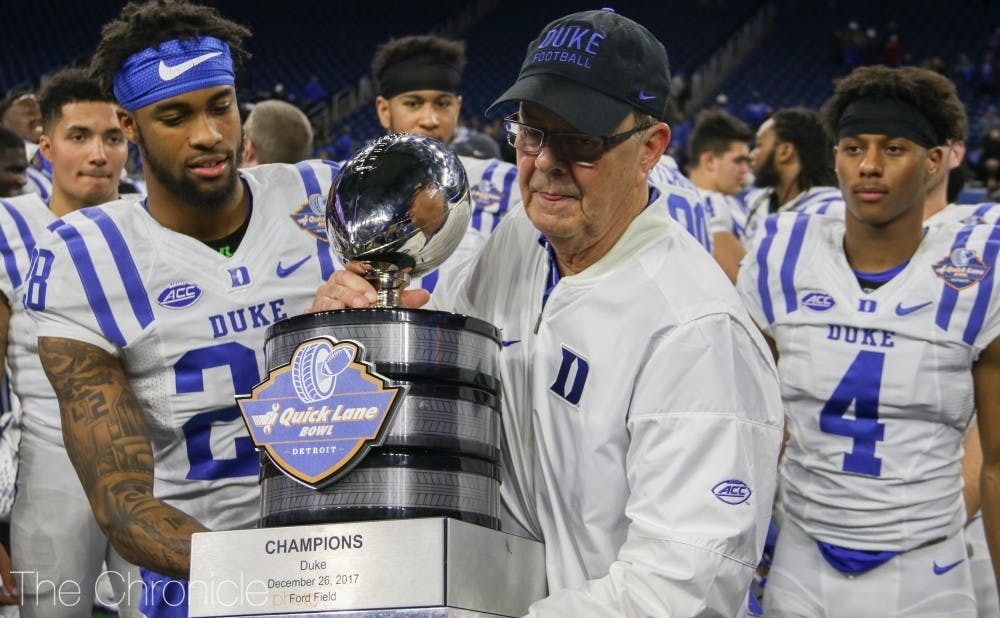 <p>For a second consecutive offseason, head coach David Cutcliffe has picked up an offensive lineman via transfer from Big Ten powerhouse Ohio State.</p>