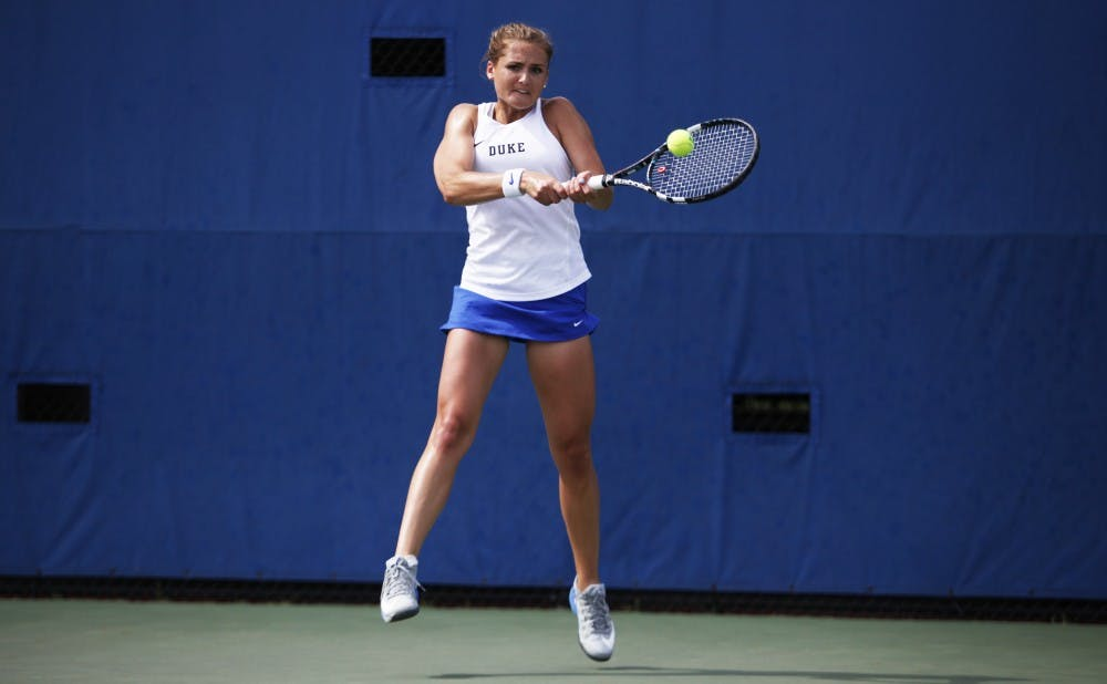 Senior Annie Mulholland and Duke will start play in the ACC tournament Friday.