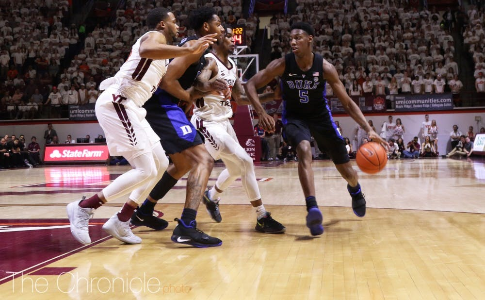 R.J. Barrett turned up the intensity during the second half Tuesday.