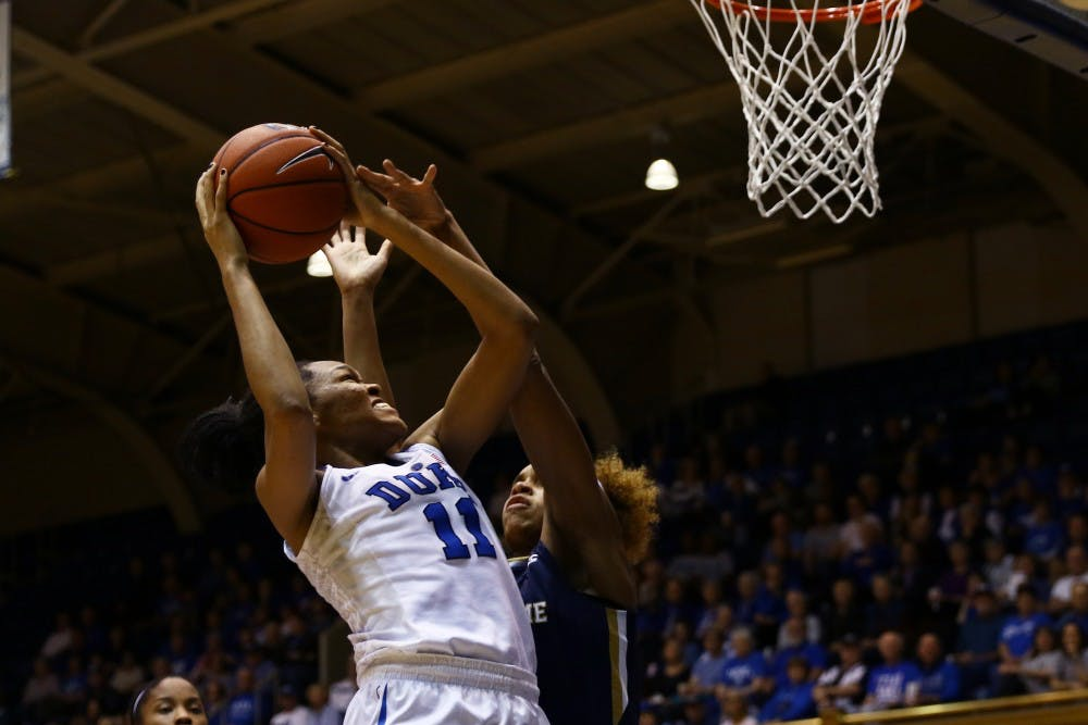<p>Sophomore Azurá Stevens scored 14 points but had just one field goal in the second half, matched up with the tall and physical Brianna Turner.</p>