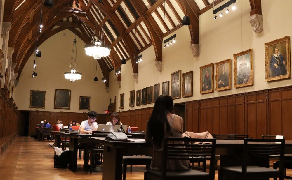 <p>Part of the Rubenstein Library renovations included enhancing the study space in the Gothic Reading Room on the second floor.</p>