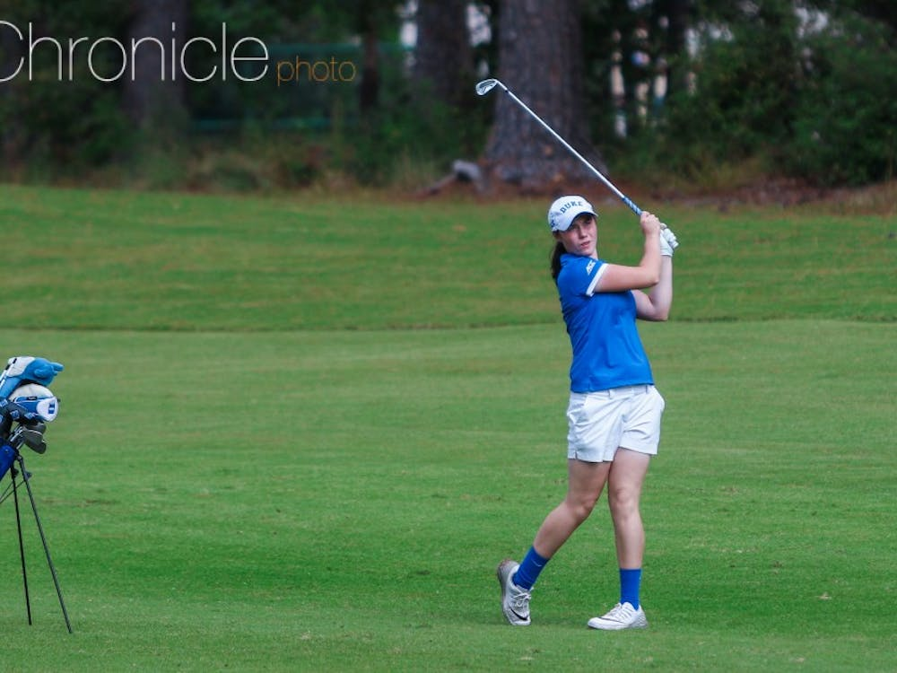 Junior Leona Maguire tied for first individually this week, but no playoff was used to separate the tie.