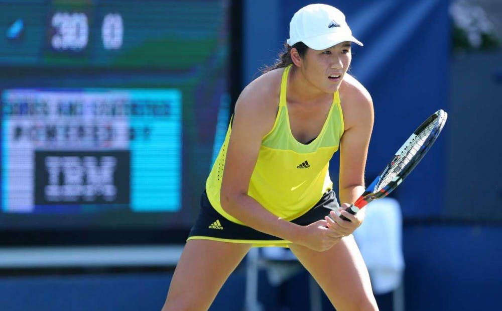 <p>Kelly Chen advanced to the NCAA semifinals but fell short of a spot in the finals.</p>