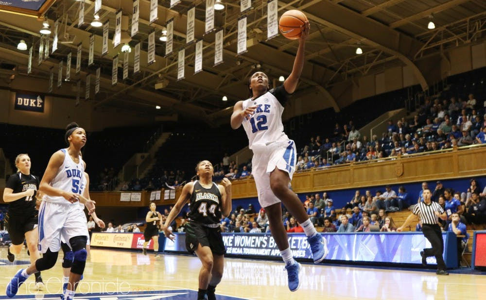 <p>Mikayla Boykin sparked the Blue Devils in her return Thursday.</p>