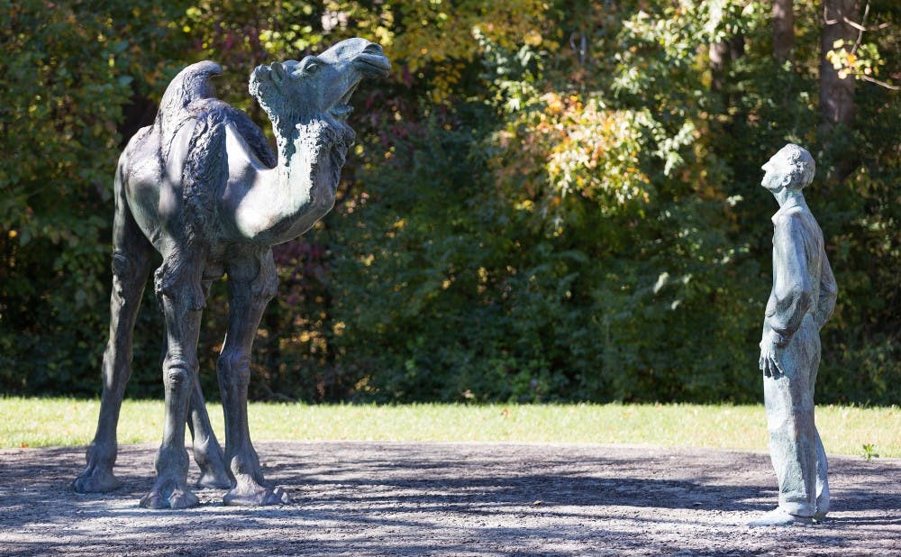 The statue of Knut Schmidt-Nielsen and a camel on Science Drive is more than Duke's only statue dedicated to a professor—it is perhaps the University's most puzzling landmark.