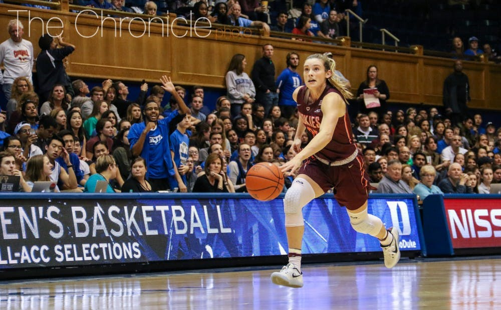 <p>Jordan DeLoatch&nbsp;graduated in 2015 but is still often one of the only active fans in the student section for women's basketball games.&nbsp;</p>