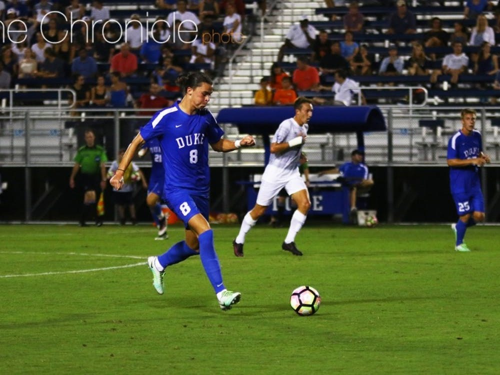 Ciaran McKenna scored the first goal of Duke's regular season after a spring marred by legal issues.