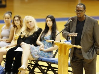 Mark Anthony Neal, James B. Duke distinguished professor of African and African American studies, speaks at a 2015 event