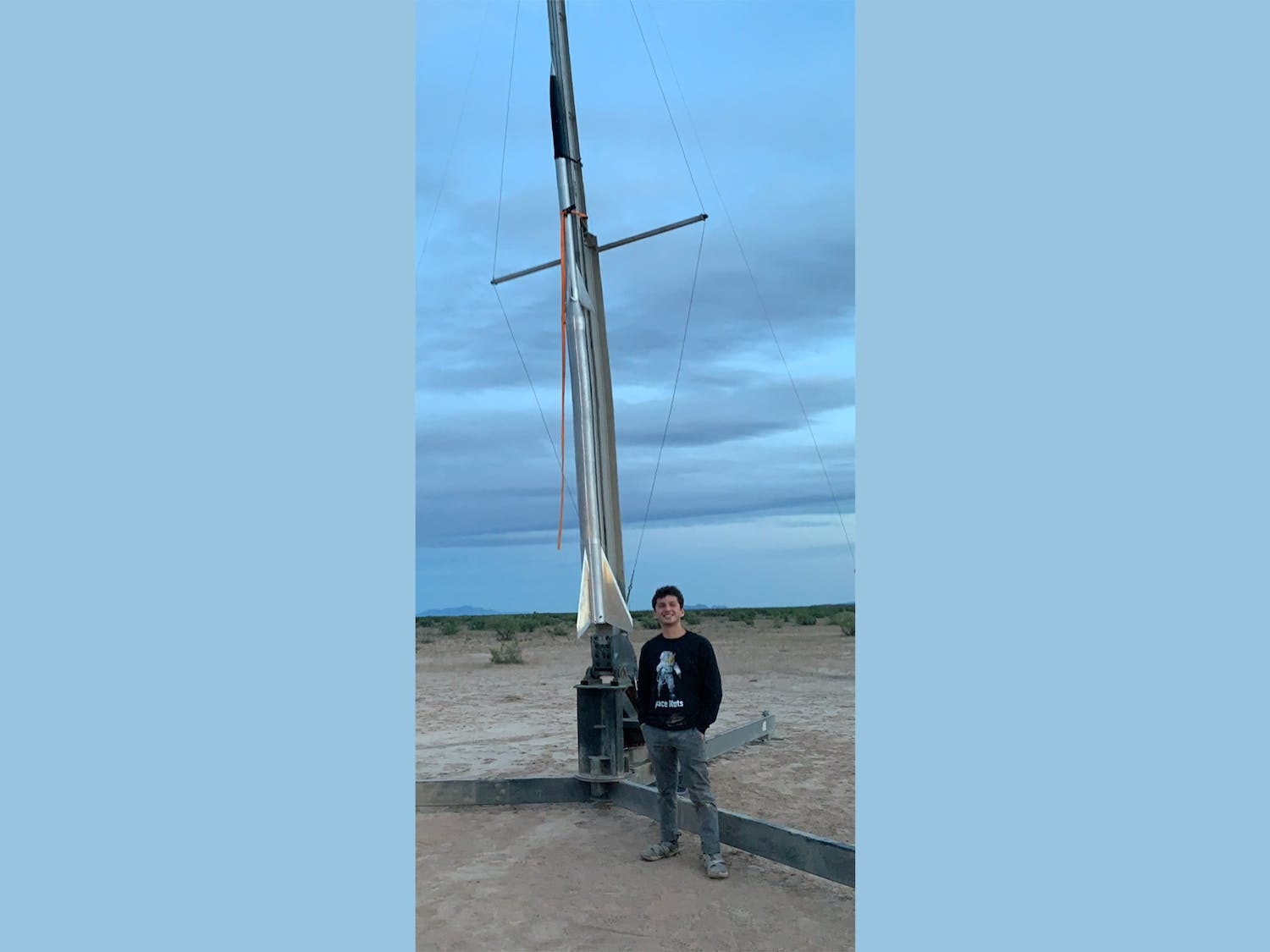 Joshua Farahzad, who took a leave of absence from Duke after his sophomore year, spent a year working with about 40 college students to launch a rocket into space.