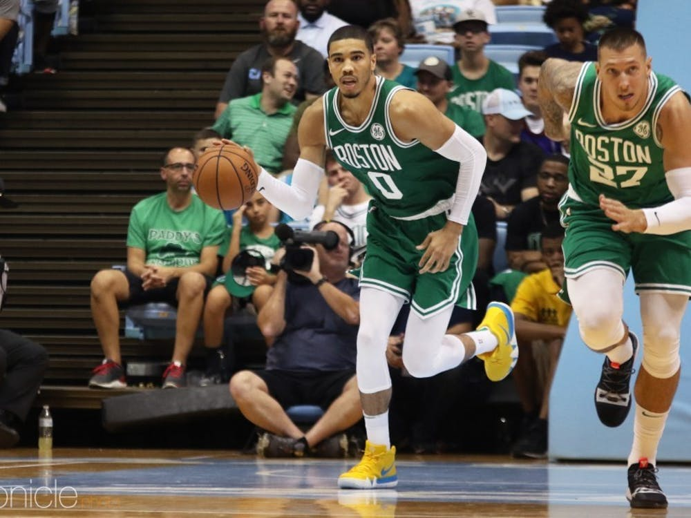best cheap 9d6fa f4dd7 Duke in the NBA: Jayson Tatum shines while Kyrie Irving ...