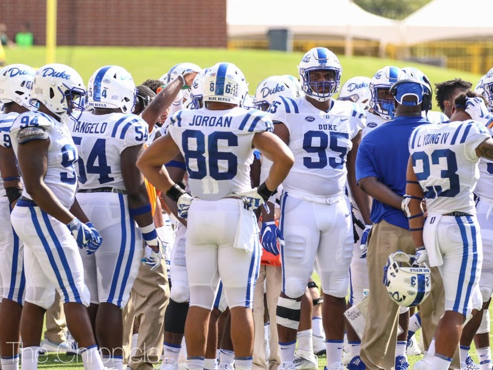 The Blue Devils' defense will need to be aggressive against Virginia Tech Saturday.