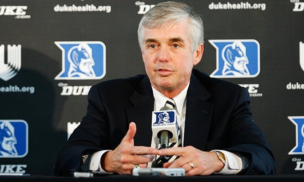 <p>Coronavirus responses are bound to shake things up for athletic director Kevin White and many of Duke's varsity sports teams.</p>