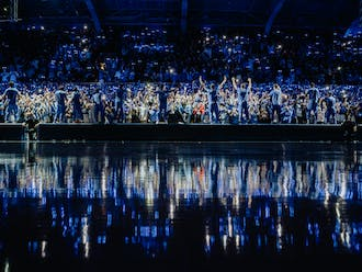 Under the bright lights, the Blue Devils showed out in front of their first home crowd since March 2020.