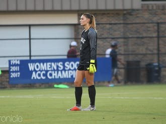 Brooke Heinsohn's effort in goal was not enough to propel the Blue Devils to victory.