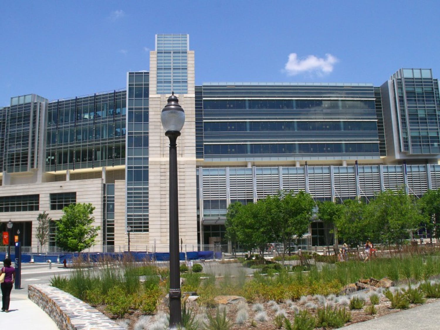 Blake Wilson serves as the co-director of the Duke Hearing Center, which is housed within Duke Hospital, pictured above, and is home to research and development of treatments for hearing loss.
