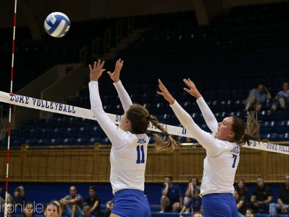 Leah Meyer has emerged as a consistent blocker for the Blue Devils.