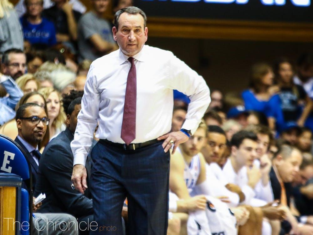 Despite the final score, it was a frustrating afternoon for Duke head coach Mike Krzyzewski.