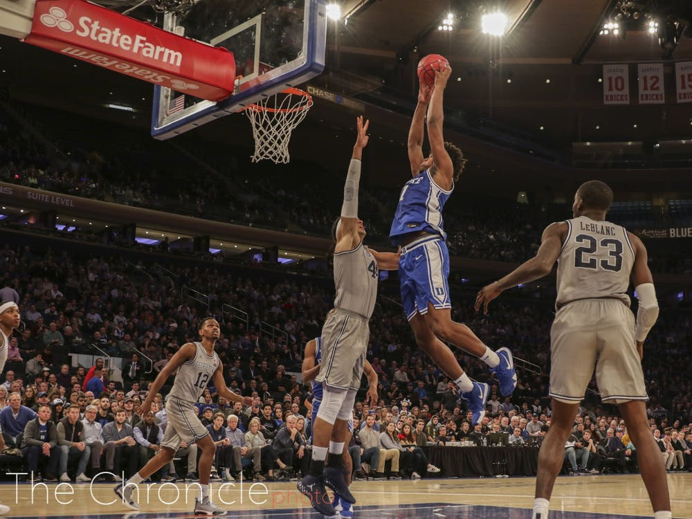 Duke took on Georgetown in the final game of the 2K Empire Classic tournament at Madison Square Garden last Friday. The Blue Devils came out with an 81-73 win. Check out head photo editor Mary Helen Wood's best shots from the game.