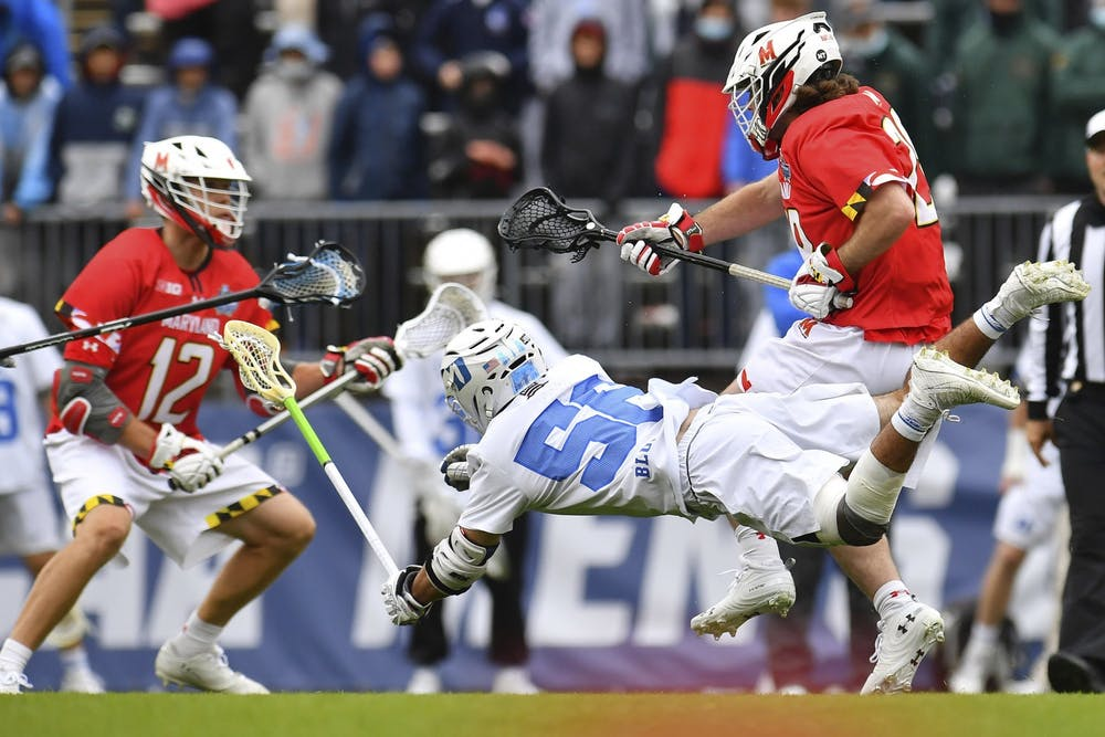 <p>Despite Jake Naso's rise this season, the Blue Devils went just 10-for-22 on faceoffs in their 14-5 loss to Maryland.</p>