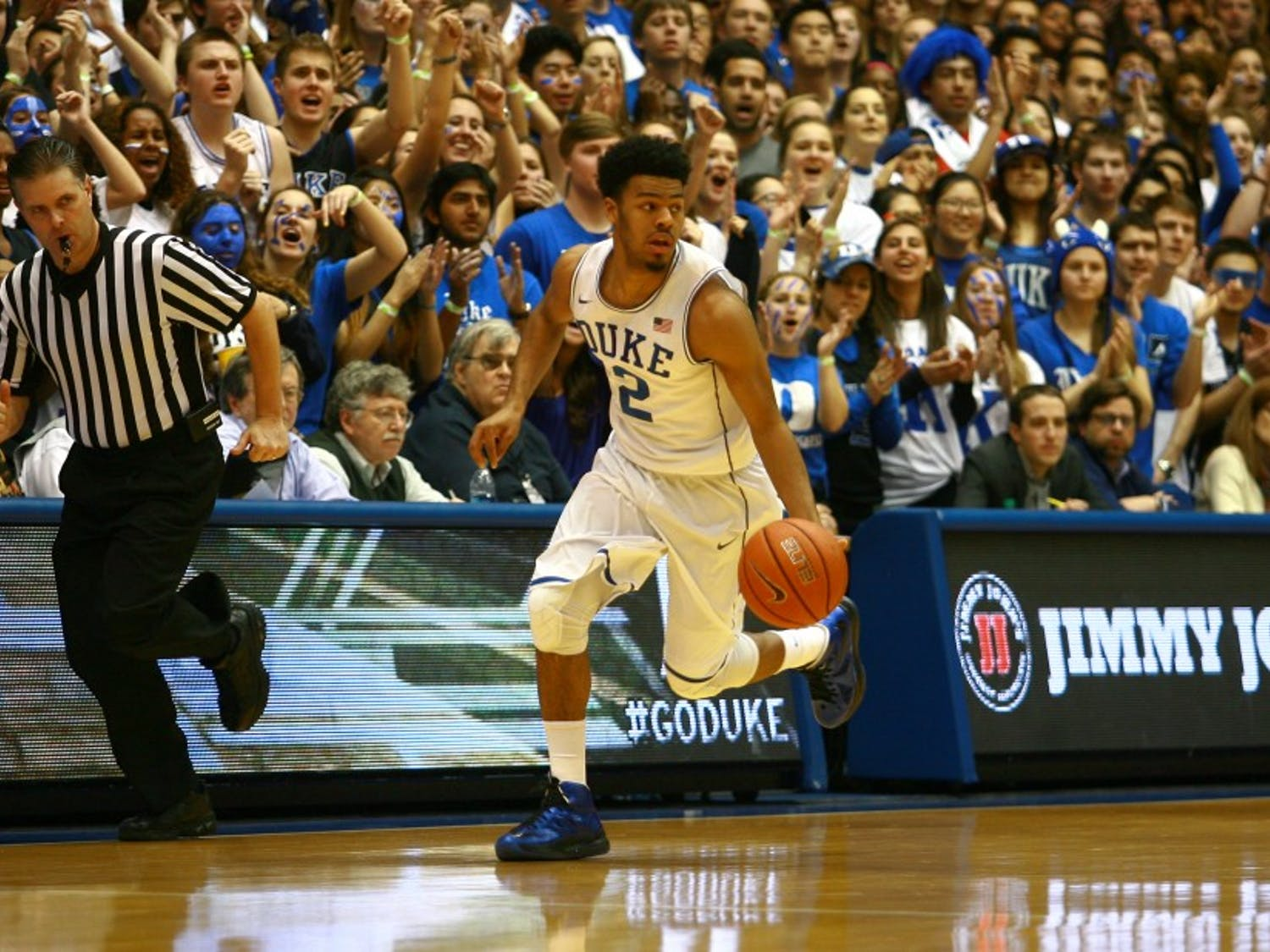 Senior Quinn Cook powered the Blue Devils to victory Wednesday, as his 17 points—all coming in the second half—led all scorers.