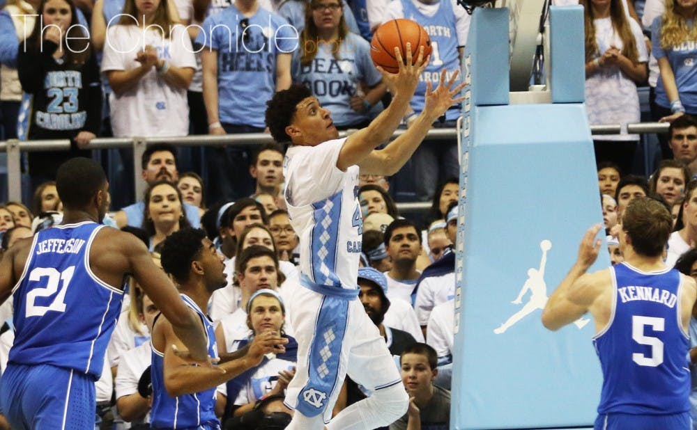 <p>Justin Jackson and North Carolina are in the Final Four for a second straight year.&nbsp;</p>