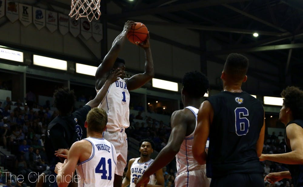 <p>Zion Williamson's dominating presence in the paint will be essential for Duke's success against Gonzaga.</p>