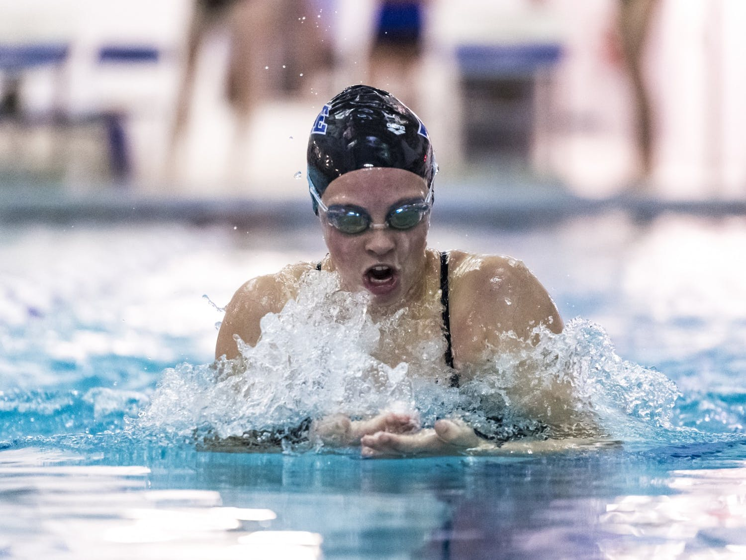 Freshman Sarah Foley has impressed over the first two meets of her collegiate career.