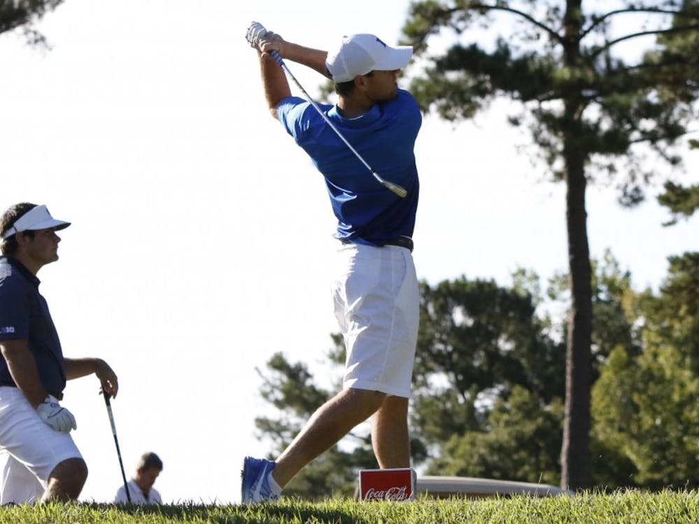 Duke claimed a tournament title for the second straight week with its win at the Seahawk Invitational Monday, and junior Matt Oshrine claimed the individual crown with a seven-under-par performance.