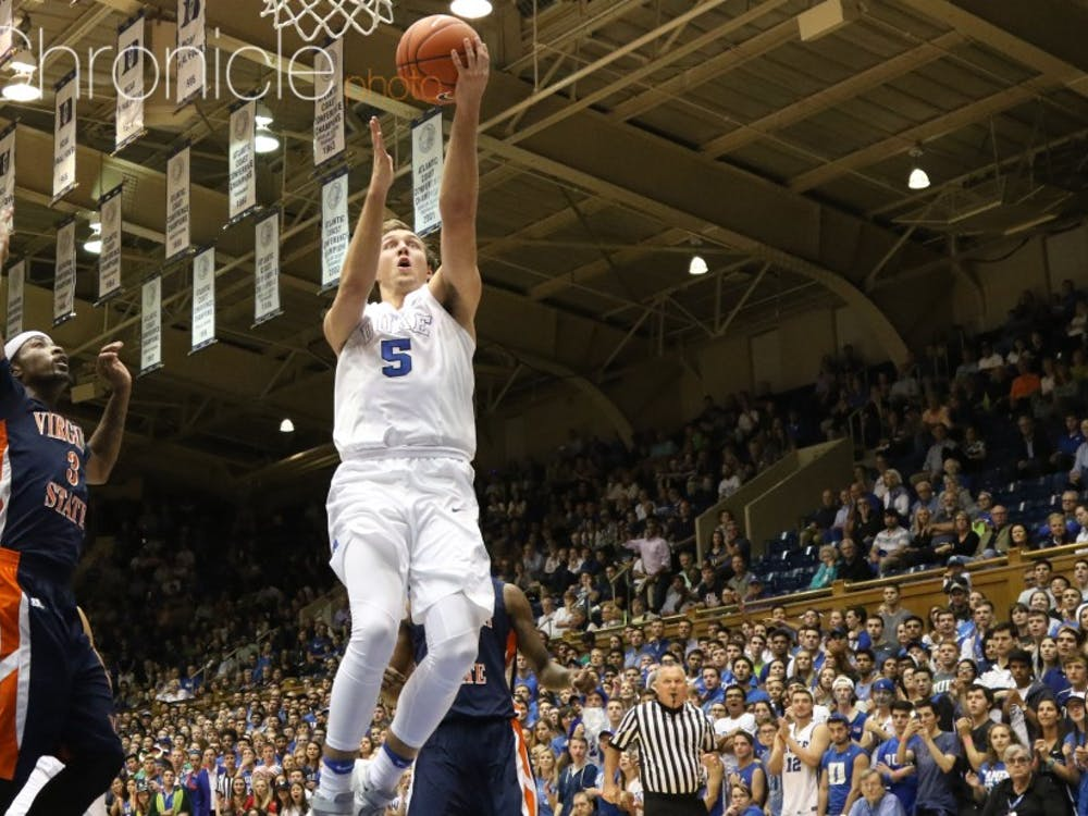 Luke Kennard poured in 30 points against Virginia State Friday in the Blue Devils' first game of the season.