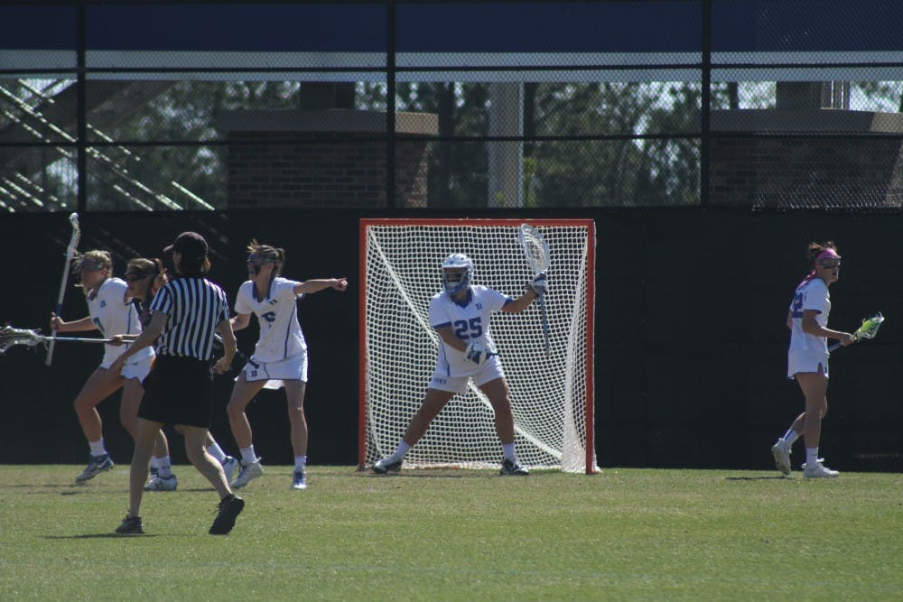 <p>Goalkeeper Kelsey Duryea&nbsp;recorded her 500th career save Wednesday against Georgetown, becoming just the third Blue Devil to reach that threshold.</p>