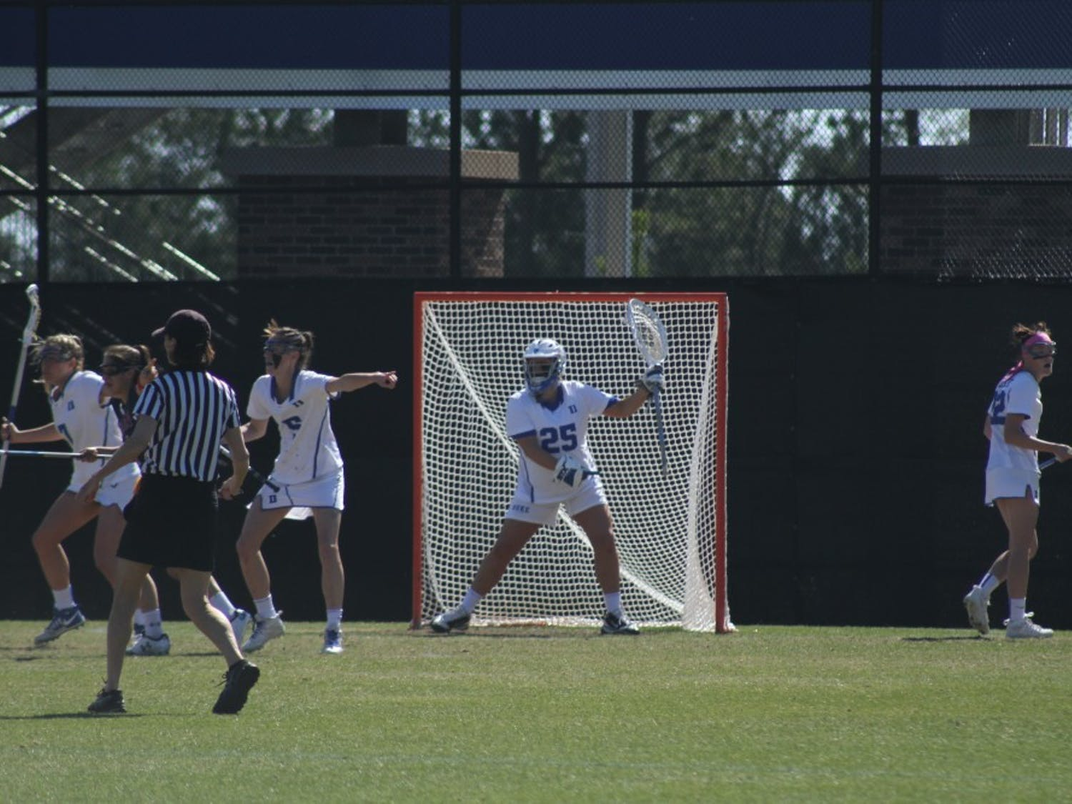 Goalkeeper Kelsey Duryea recorded her 500th career save Wednesday against Georgetown, becoming just the third Blue Devil to reach that threshold.