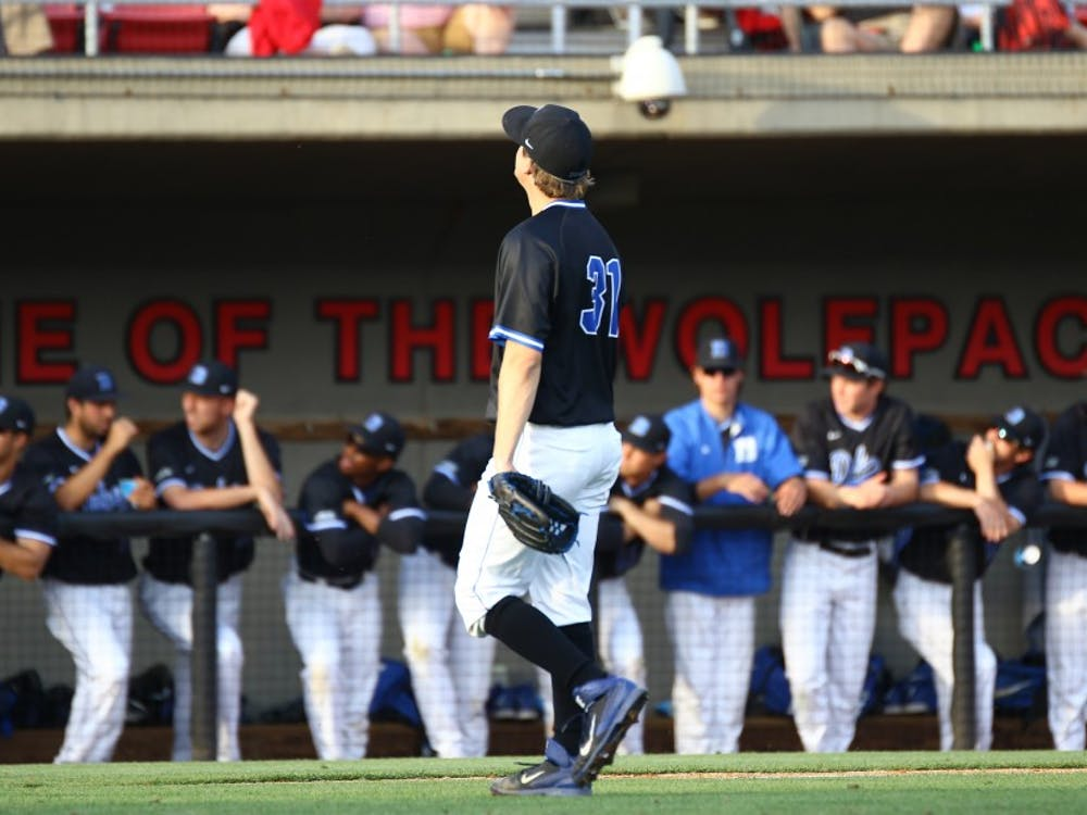Graduate student Kellen Urbonpitched a career-high 7.1 innings Friday night and exited with a 2-1 lead, but the Blue Devils were unable to keep N.C. State's offense at bay late.