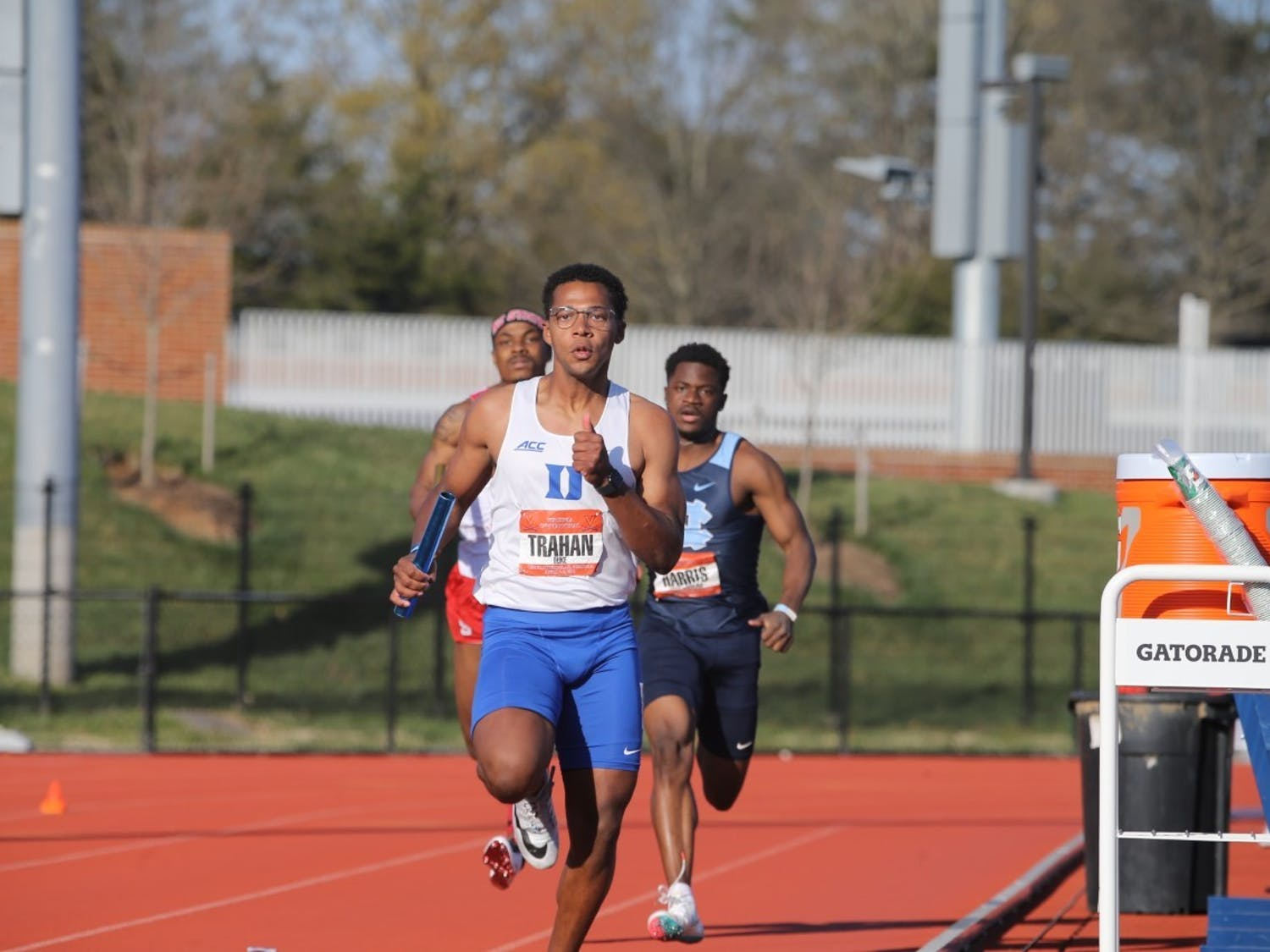 Duke's 4x100m relay teams dominated in Virginia this past weekend.