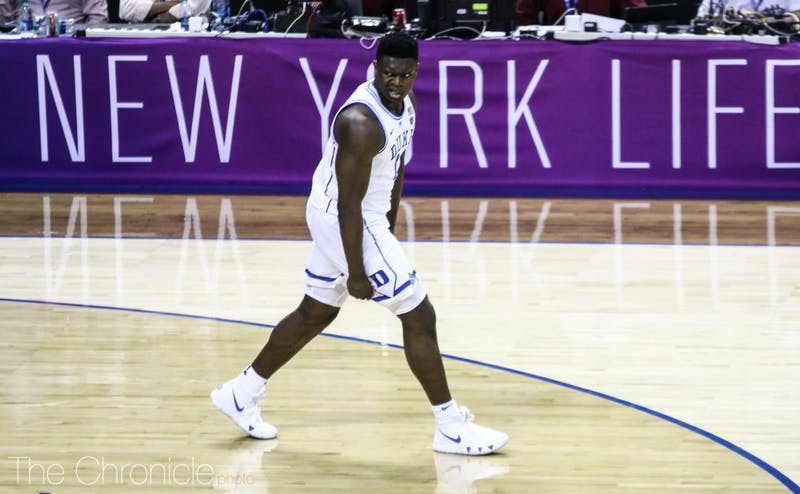 Freshman Zion Williamson returned with force against Syracuse in Duke's first game of the ACC tournament, throwing down multiple first-half slams, and scoring 21 points.