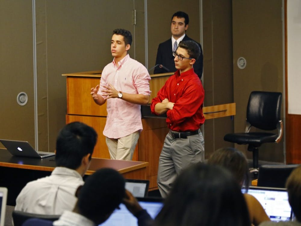 DSG Senate heard the first reading of changes to Student Organization Finance bylaw at its meeting Wednesday night.